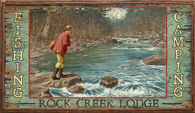 Rock Creek Wood Sign