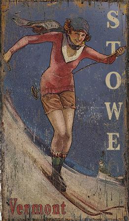 Classic Ski Wood Sign