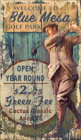 Golf Mesa Wood Sign