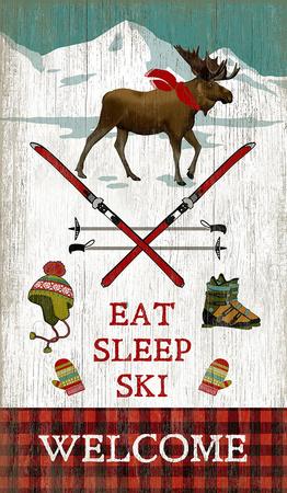 Eat Sleep Wood Sign