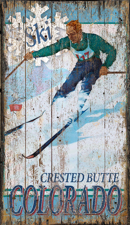 Crested Butte Wood Sign
