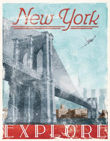 Explore New York NYC Vintage Wood Sign