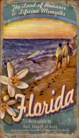 Visit Florida Wood Sign