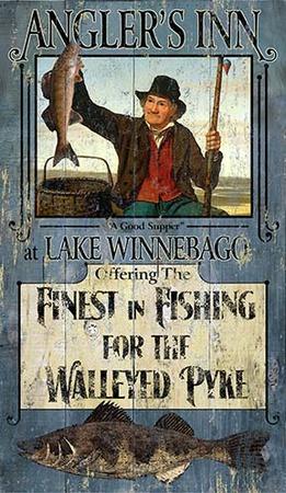 Fishing Walleye Wood Sign