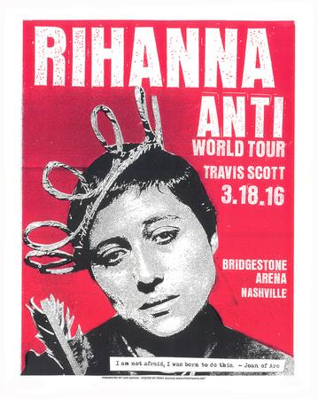 Rihanna Serigraph by  Print Mafia