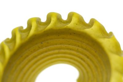Pasta, close-up of pasta shape Fotografisk tryk af David Burton