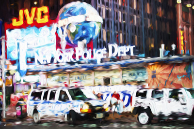 New York Police - In the Style of Oil Painting Giclee Print by Philippe Hugonnard
