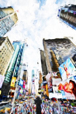 Times Square IV - In the Style of Oil Painting Giclee Print by Philippe Hugonnard