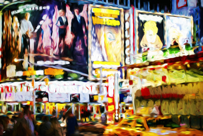 Times Square - In the Style of Oil Painting Giclee Print by Philippe Hugonnard