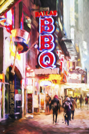 Dallas Snow - In the Style of Oil Painting Giclee Print by Philippe Hugonnard