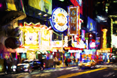 NYC 42 Street - In the Style of Oil Painting Giclee Print by Philippe Hugonnard