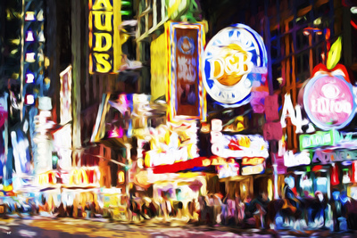 NYC 42 Street II - In the Style of Oil Painting Giclee Print by Philippe Hugonnard