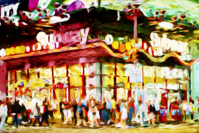 Manhattan Subway II - In the Style of Oil Painting Giclee Print by Philippe Hugonnard