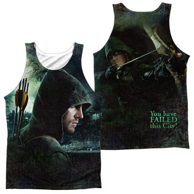 Tank Top: Arrow- Hero (Front/Back) Tank Top