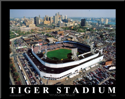 Detroit - Tiger Stadium Final Game Mounted Print by Mike Smith