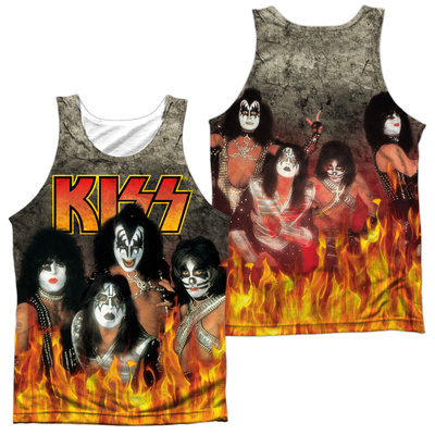 Tank Top: Kiss- Through The Fire (Front/Back) Tank Top