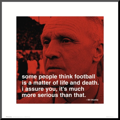 Bill Shankly: Football Mounted Print