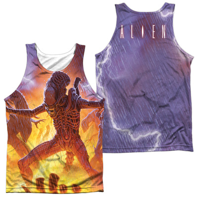 Tank Top: Alien- Lightning And Fire (Front/Back) Tank Top