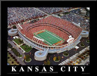 Kansas City Chiefs - Arrowhead Stadium Mounted Print by Brad Geller