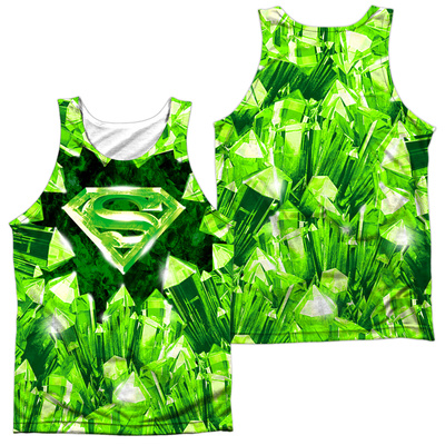 Tank Top: Superman- Kryptonite Shield (Front/Back) Tank Top