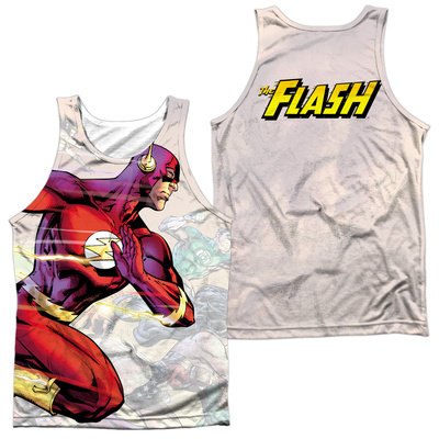 Tank Top: The Flash- Taking The Lead (Front/Back) Tank Top