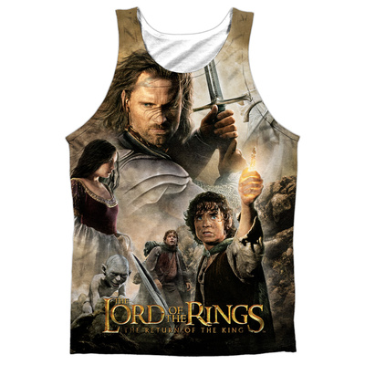 Tank Top: The Lord Of The Rings: The Return Of The King- King Poster (Black Back) Tank Top
