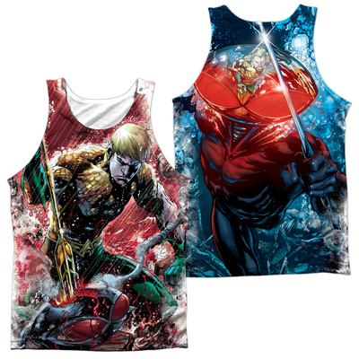 Tank Top: Jla- Aquaman vs Manta (Front/Back) Tank Top