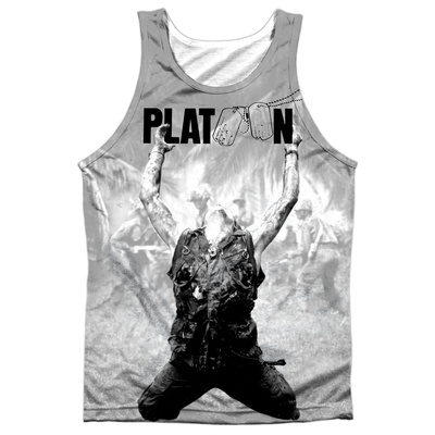 Tank Top: Platoon- Grayscale Poster Tank Top