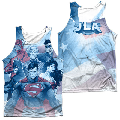 Tank Top: Justice League- United (Front/Back) Tank Top
