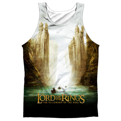 Tank Top: The Lord Of The Rings: The Fellowship Of The Ring- Fellowship Poster (Black Back) Tank Top