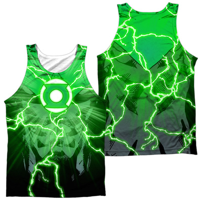 Tank Top: Green Lantern- Power Surge (Front/Back) Tank Top