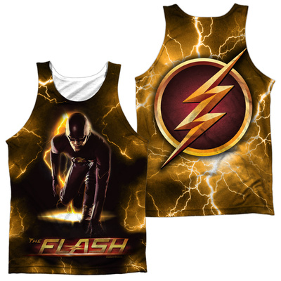 Tank Top: The Flash- Bolt (Front/Back) Tank Top
