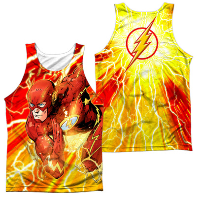 Tank Top: The Flash- Lightning Surge (Front/Back) Tank Top
