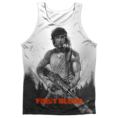 Tank Top: Rambo First Blood- Poster Tank Top