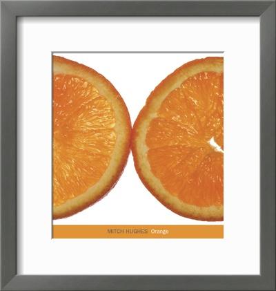 Orange Poster by Mitch Hughes
