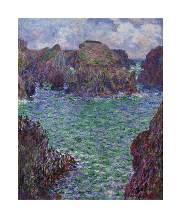 Port-Goulphar, Belle-Ile, 1887 Premium Giclee Print by Claude Monet