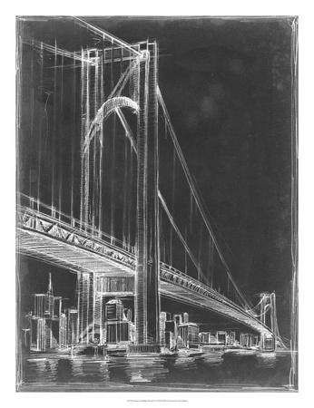 Suspension Bridge Blueprint I Giclee Print by Ethan Harper