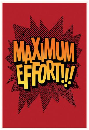 Maximum Effort!!! (Deep Red) Póster