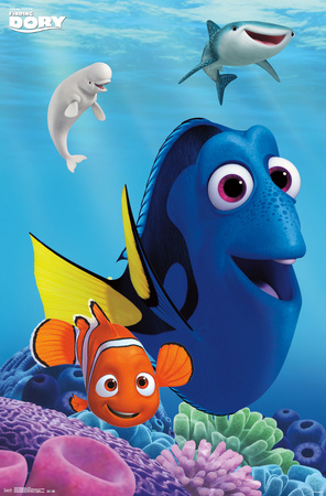 Finding Dory- New & Old Friends Póster