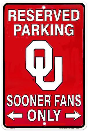 Sooner Fans - OK Tin Sign
