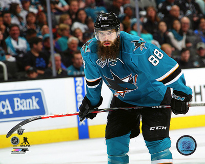 Brent Burns 2016 Stanley Cup Playoffs Action Photo