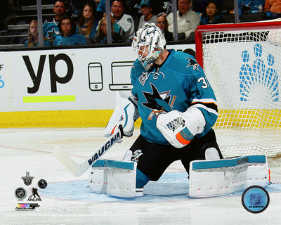 Martin Jones 2016 Stanley Cup Playoffs Action Photo