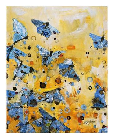 Metamorphosis Yellow Poster by Britt Freda