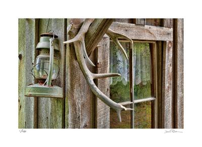Antlers And Lantern Giclée-Druck von Donald Paulson