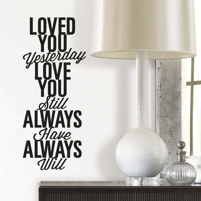Love You Always Single Sheet Peel and Stick Wall Decals Wall Decal
