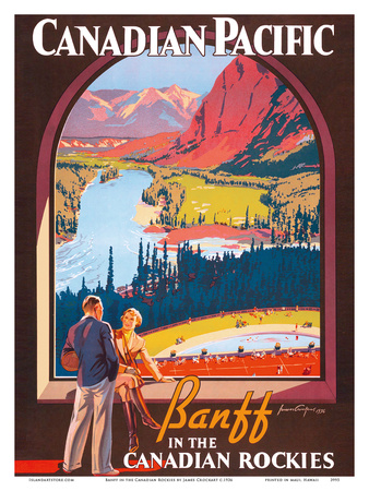 Banff in the Canadian Rockies - Lake Louise, Banff National Park - Canadian Pacific Railway Company Prints by James Crockart