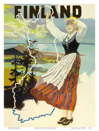 Finland Posters by Olavi Vepsäläinen