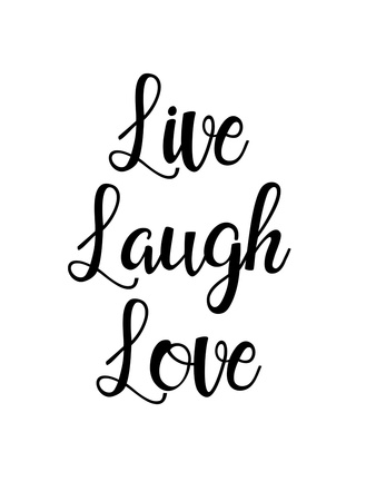 Live laugh love Print by Pop Monica