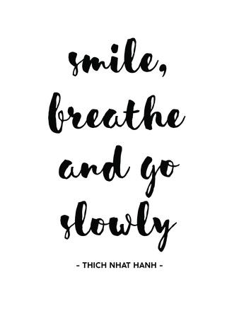Smile Breathe Print by Pop Monica