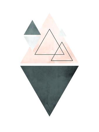 【北欧】幾何学模様(グレー) ポスター : Pop Monica